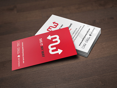 SIMW Travel App Business Cards